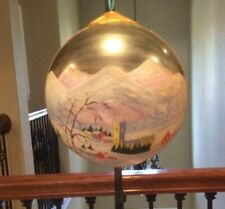 """Vintage Eggeling Vienna Austria Extra Large Round Hand Painted Ornament 25"""" L@K"""