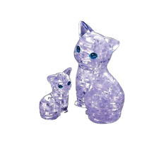Clear Cat 3D Crystal Puzzle Mother and Baby Set