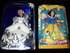 Barbie - Walt Disney 1996 Cinderella And Snow White Barbie Dolls New In Box Exc.