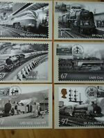 2010 PHQ 340 BRITISH RAILWAYS SET OF 6 PHQ CARDS FDI FRONT SPECIAL PICTORIAL H/S