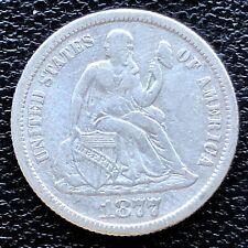 1877 Seated Liberty Dime 10c High Grade XF #18662