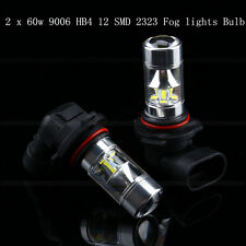 2*9006 HB4 12-Samsung 2323 SMD 60W LED High Light 6000K Fog/Driving lights Bulb