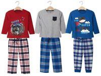 Boys' Pyjamas Set 100% Cotton Flannel Bottoms 1 2 3 4 5 6 Years 86 92 98 104 116