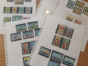 5 PAGES GUERNSEY MNH STAMPS