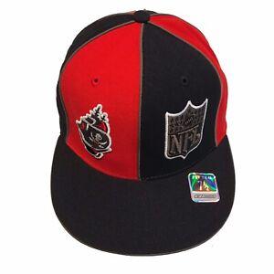 Tampa Bay Buccaneers NFL Reebok Split Logo Ship 7 1/2 Fitted Cap Hat $26