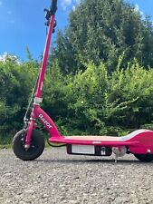 Wrazor E175 Motorized 24V Rechargeable Electric Powered Scooter - Pink - charger