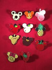 11 Disney pins Food Mouse Ear Icons As Seen Lot x