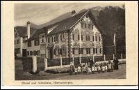 OBERAMMERGAU Bayern um 1920 Hänsel u. Gretel Kinderheim Kinder mit Betreuer