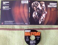 JOHNNY HALLYDAY CD DEUX TITRES DIGIPACK QUELQUES CRIS .