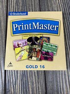 Broderband Print Master Gold 16 PC Computer Program 2004