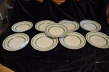 Keeling & Co Losol Ware Pompadour 5407 patrón 9 Placa de desayuno Verde 24 cm de diámetro