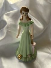 Vintage Enesco Growing Up Birthday Girls Porcelain Figurine Brunette Age 15 1982