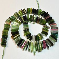 297.35CT Pink Green Blue Smooth Old Stock Tourmaline Crystal Bead 16 inch strand