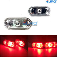 Euro Crystal clear Side marker Red LED light for VW Golf /Jetta /Bora MK4