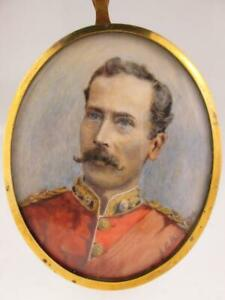 Antique British Army Royal Fusiliers Portrait Of Military Officer Signed 1904