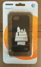 iLuv Black Phone Case for iPhone 5/5s - Snoopy on Doghouse