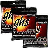 3 Sets GHS Electric Boomers GBL Light Nickel-Plated Steel Guitar Strings (10-46)