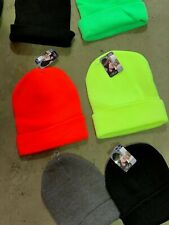 10 x Beanies 100% Acrylic Work Beannie Keep head warm this winter headwear hat