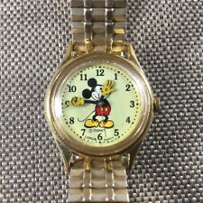Women's Disney Mickey Mouse Lorus Watch by Seiko V515-6080 Gold Toned [ML01]