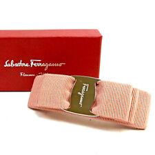 Auth Salvatore Ferragamo Valletta Valara ribbon Women''s L1529