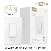 3-Way WiFi Smart Light Switch Double Control Remote Control Works with Alexa