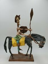 "Vintage Don Quixote Paper Mache Figure Statue 14"" tall"