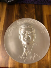 John F Kennedy Memorial Plate The Hamilton Mint Solid Pewter Serial Number 2847