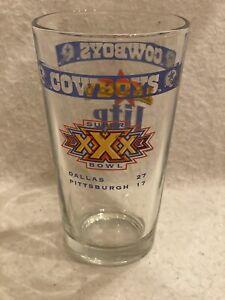 Super Bowl XXX 30 Dallas Cowboys Souvenir Glass Miller Lite Beer Cup