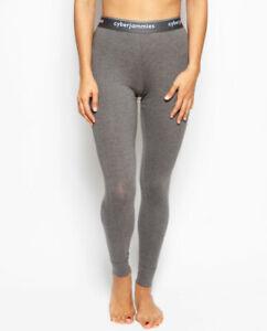 Leggings Pyjama Bottoms Women Lola Supima Cotton Knit Grey S-XL