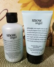 PHILOSOPHY 2 PC SET Snow Angel Shampoo 6 oz Snow Angel Body Lotion 4 oz