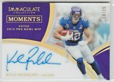 Kyle Rudolph Minnesota Vikings 2018 Immaculate NFL Moments Acetate Gold AUTO /25