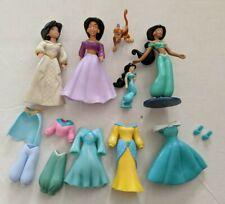 Disney Princess Polly Pocket Aladdin Jasmine Doll Dresses Abu Monkey Lot
