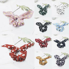 Dots Rabbit Ears Scrunchies Streamers Hair Ring Stretch Hair Accessories F016