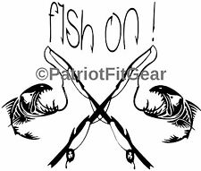 Fish On,Fish,Fishing,Angler,Charters,Boats,Rivers,Rod and Reel,vinyl decals