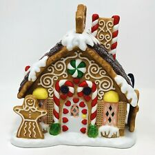 Partylite Gingerbread Christmas House Tealight Candle Holiday Village P7304