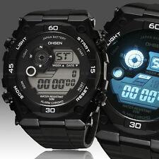 Mens Digital Military Army Sport Watch Quartz Chronograph Waterproof White