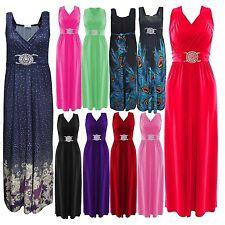 Womens Grecian Buckle Maxi Dress Sleeveless Evening Wear lot size Summer Dresses