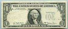 1977 A Us $1 Federal Reserve Note Overprint Error Obverse on Reverse J71070643E