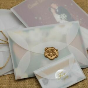 Square Retro Styles Invitation Cards With Translucent Envelope Folding Types New