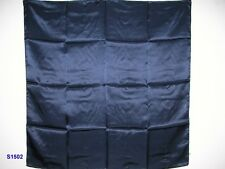 New Pure Charmeuse Silk Scarf - Stunning Navy Blue