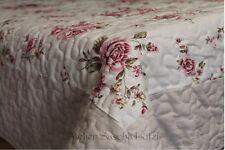 Clayre & Eef Tischdecke Quilt 2-lagig Shabby Landhaus Blumen 90cm x 150cm NEU