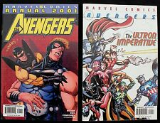 Avengers 2001 Annual & The Ultron Imperative lot of 2 nm- Giant Marvel Comics