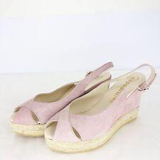 Espadrillas Scarpe con Zeppa Sandalo col tacco alto pelle camoscio rosa GR 39 NP