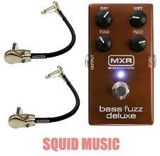 MXR Bass Fuzz Deluxe Effects Pedal M-84 ( 2 MXR PATCH CABLES ) M84 DUNLOP