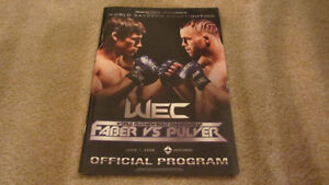 WEC 34 OFFICIAL PROGRAM FABER PULVER mma ufc
