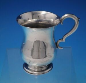 """Isaac Speer Coin Silver Baby Cup 4"""" Tall x 2 3/4"""" 2.86 ozt. c. 1842-52"""" (#5034)"""