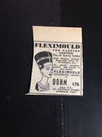 T1-6 Ephemera 1953 Advert Small Dohm Ltd Fleximould Plaster Casting London