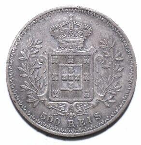 1908, Portugal, 500 Reis, Carlos I, gVF, Silver, KM# 535, Lot [1626]