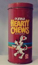 Vintage Purina Hearty Chews Brand Dog Snacks Tin