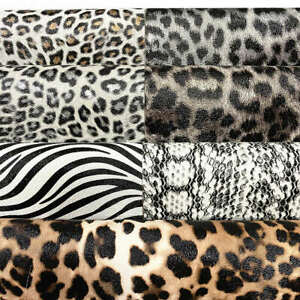 Gold Metallic Leopard Print Faux Leather Fabric Sheets For Earring Bag Crafts